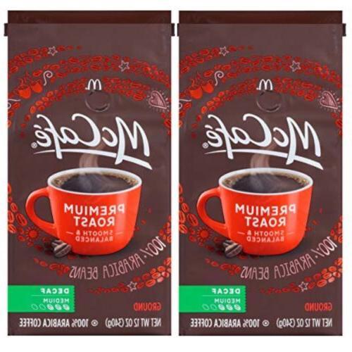 McCafe Premium Roast Medium Decaf Ground Coffee, 12 oz