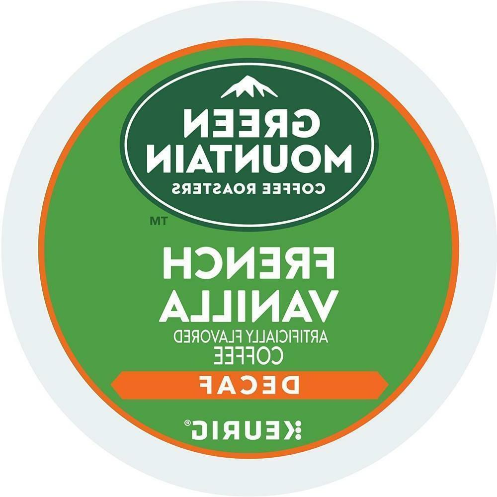 Green Mountain DECAF French Vanilla Coffee 24 to 144 Keurig