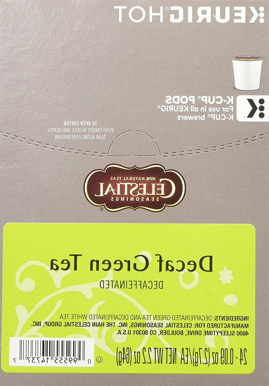 Celestial Seasonings Decaf Green Tea 24 to 144 Keurig K cups