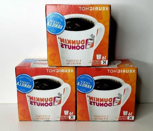 dunkin donuts french vanilla coffee 3x16ct keurig