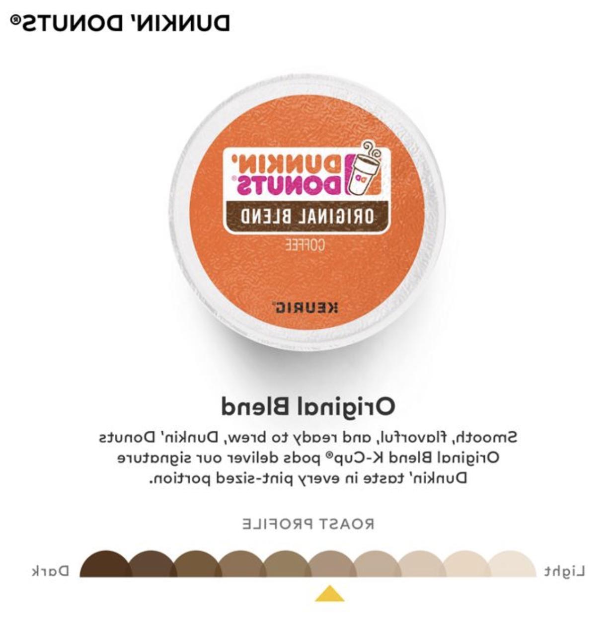 Dunkin Original Blend Keurig K-Cups Count -