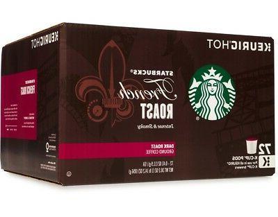 Starbucks French Roast Coffee 72 K-Cups Fresh Product Free S