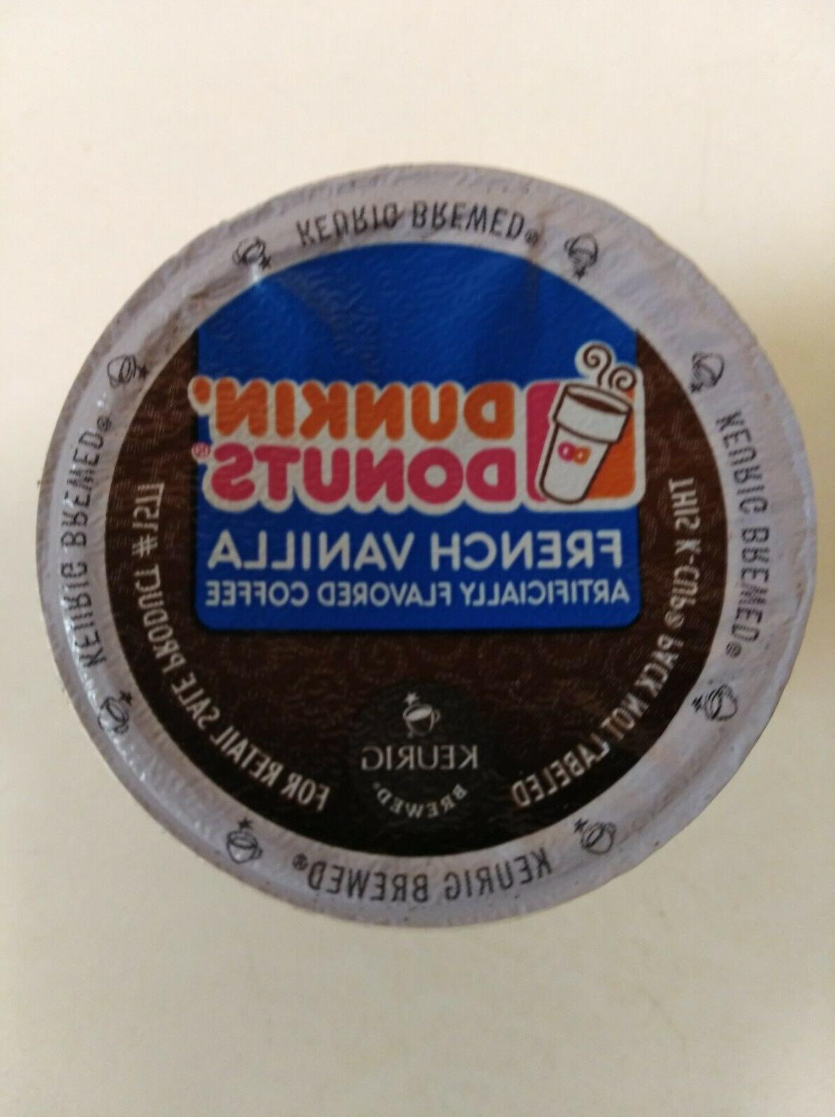 Dunkin Donuts French Vanilla K-Cups Coffee for Keurig K-Cup