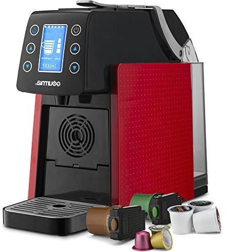 Gourmia GCM5100 Touch Multi Espresso Serve K-Cup - Digital - Red