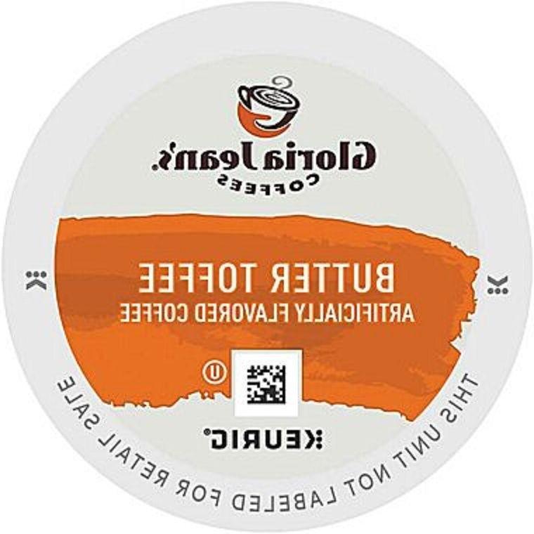 Gloria Jean's Butter Toffee Regular Coffee Keurig K-Cups 18