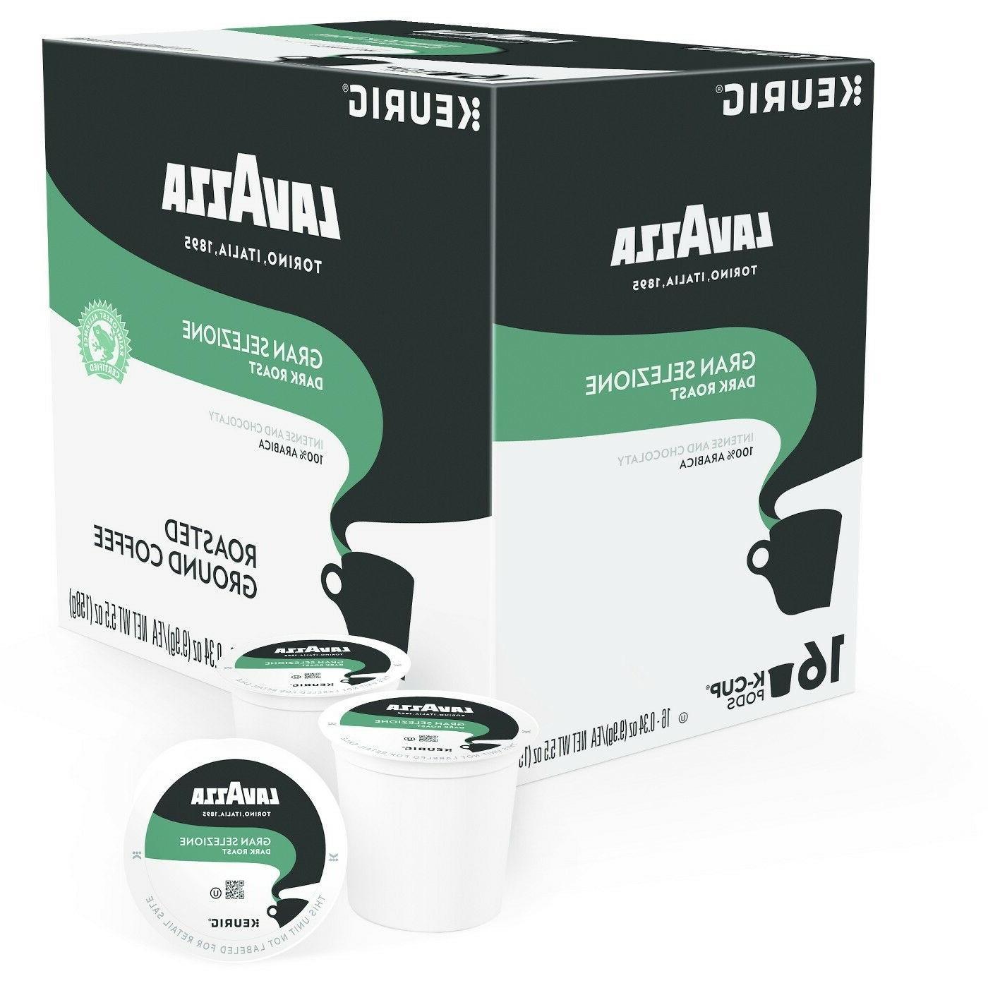 Lavazza Gran Selezione Coffee 16 to 80 Keurig K cups Pick An