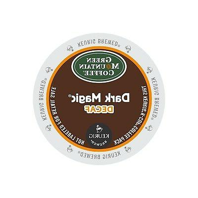 Green Mountain Dark Magic DECAF Extra Bold 4 Boxes of 24 K-C