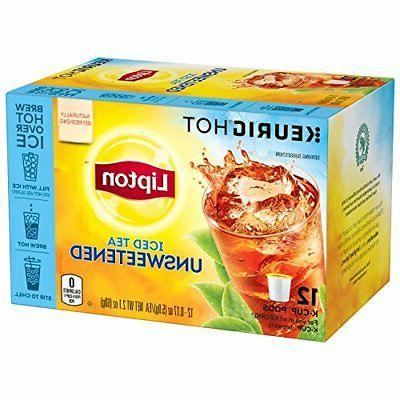 Lipton Iced Tea K-Cups Unsweetened 12 ct Pack of 6 Food Beve