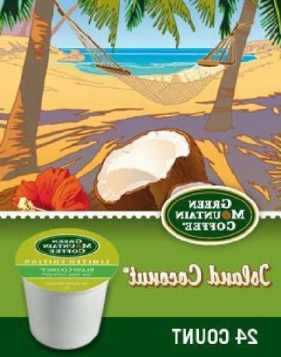 Green Mountain Island Coconut Coffee 24 Keurig K Any