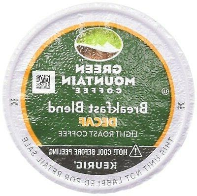 Green Mountain Coffee K-Cups, Breakfast Blend Decaf, 96-Coun