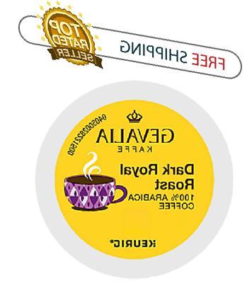 Keurig GEVALIA Dark Royal Roast K-cups Coffee 24 or 96 count