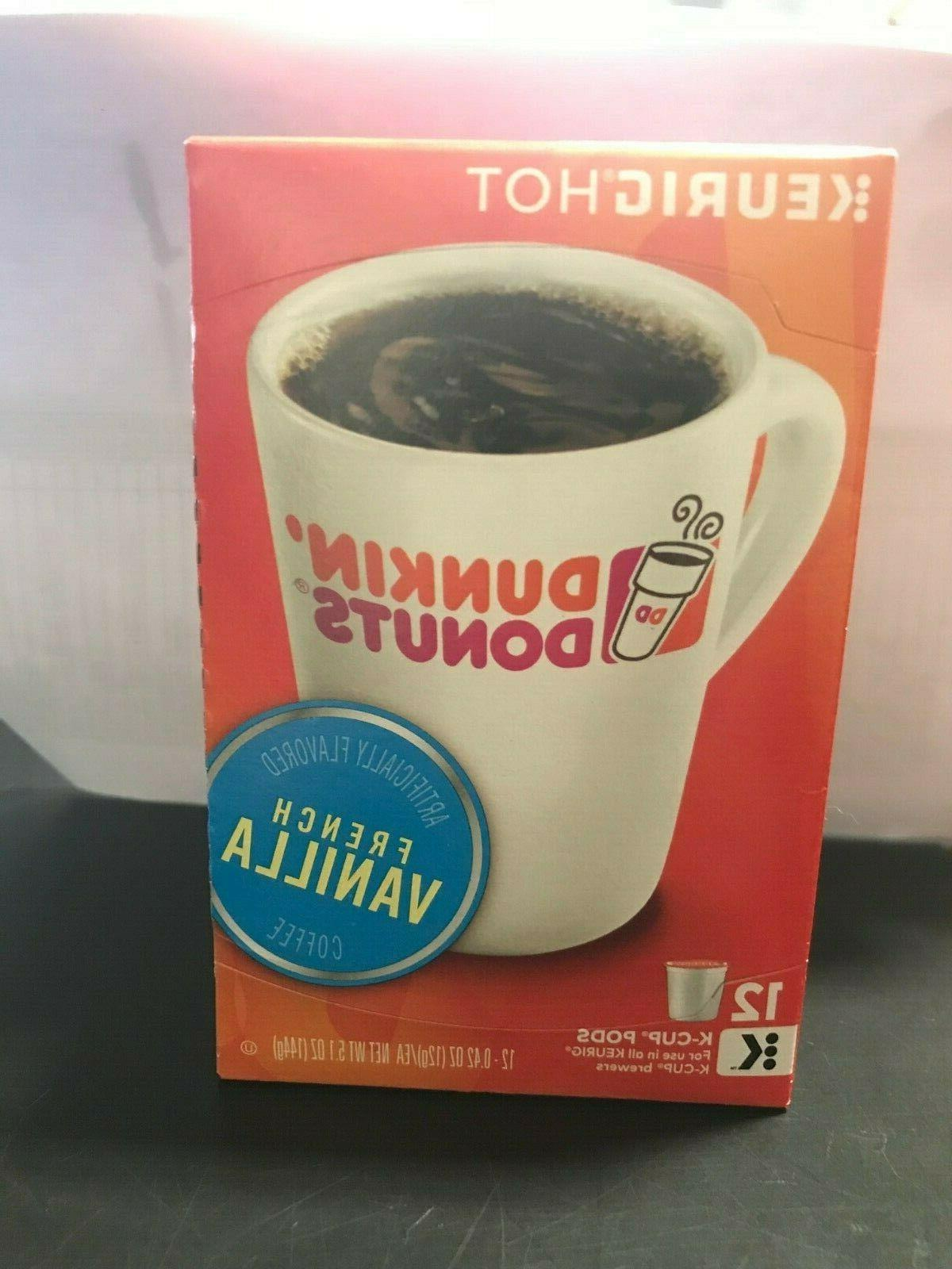 keurig dunkin donuts french vanilla coffee 12