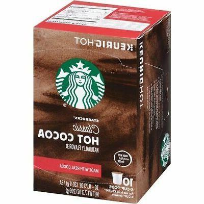 Keurig Hot Starbucks Classic Hot Cocoa K~Cups ~ 10 Count Pod