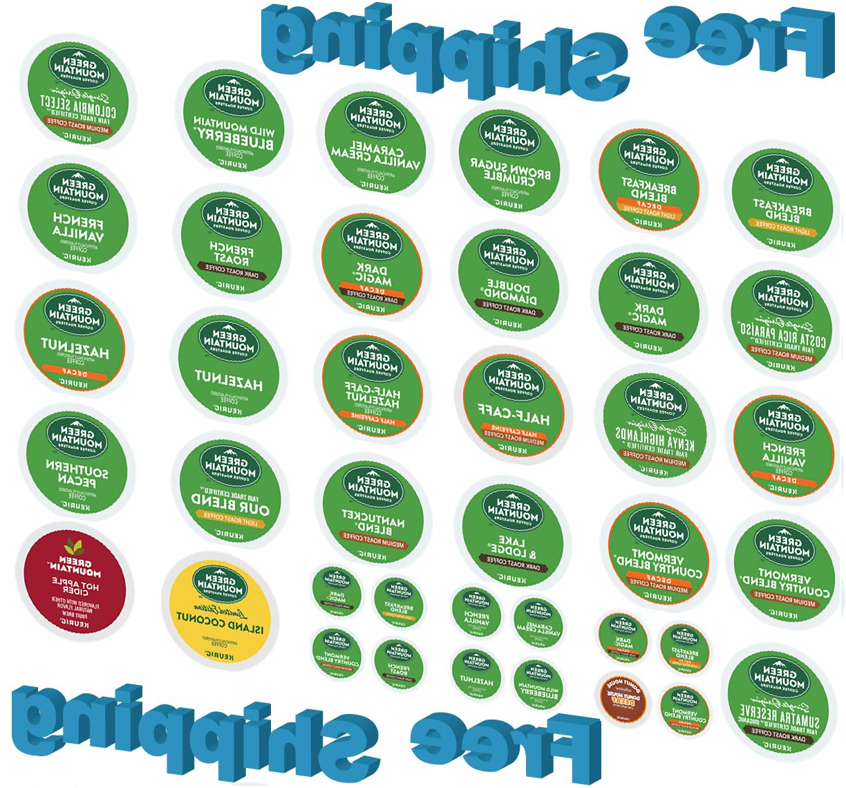 KEURIG K-CUPS GREEN MOUNTAIN COFFEE CHOOSE THE FLAVOR & SIZE
