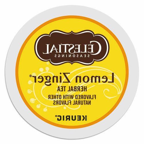 Celestial Seasonings Lemon Zinger Tea 24 to 144 Keurig K cup