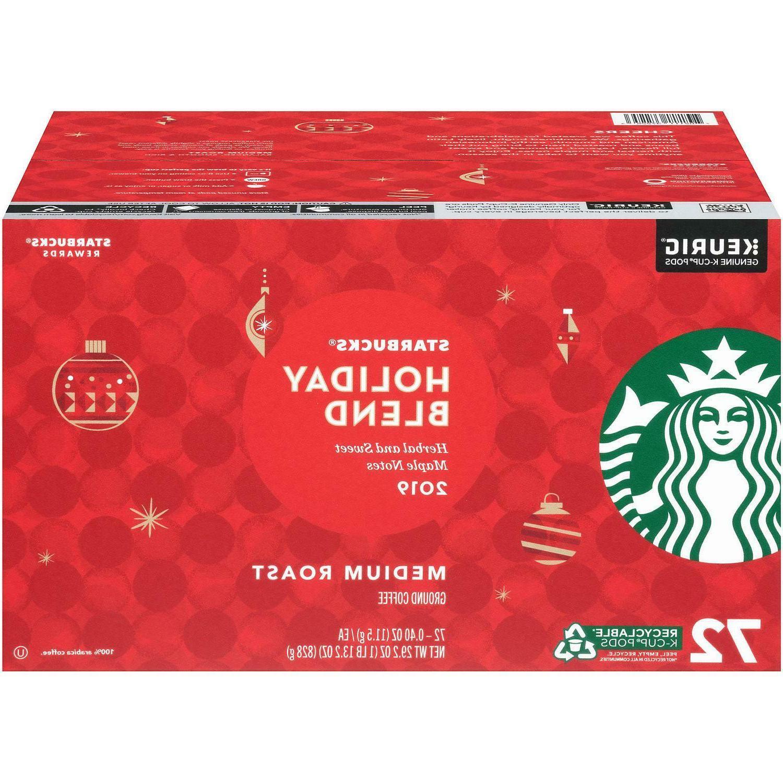 Starbucks Holiday Blend K-Cups Coffee, Medium Roast 72 ct. C