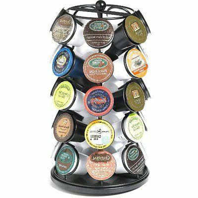 New Carousel holder for 35 coffee,tea,cocoa, K-Cups in Black