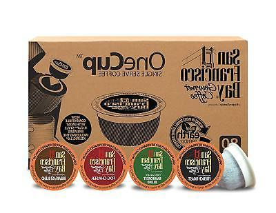 San Francisco Bay OneCup Variety Pack Coffee Compostable K-c