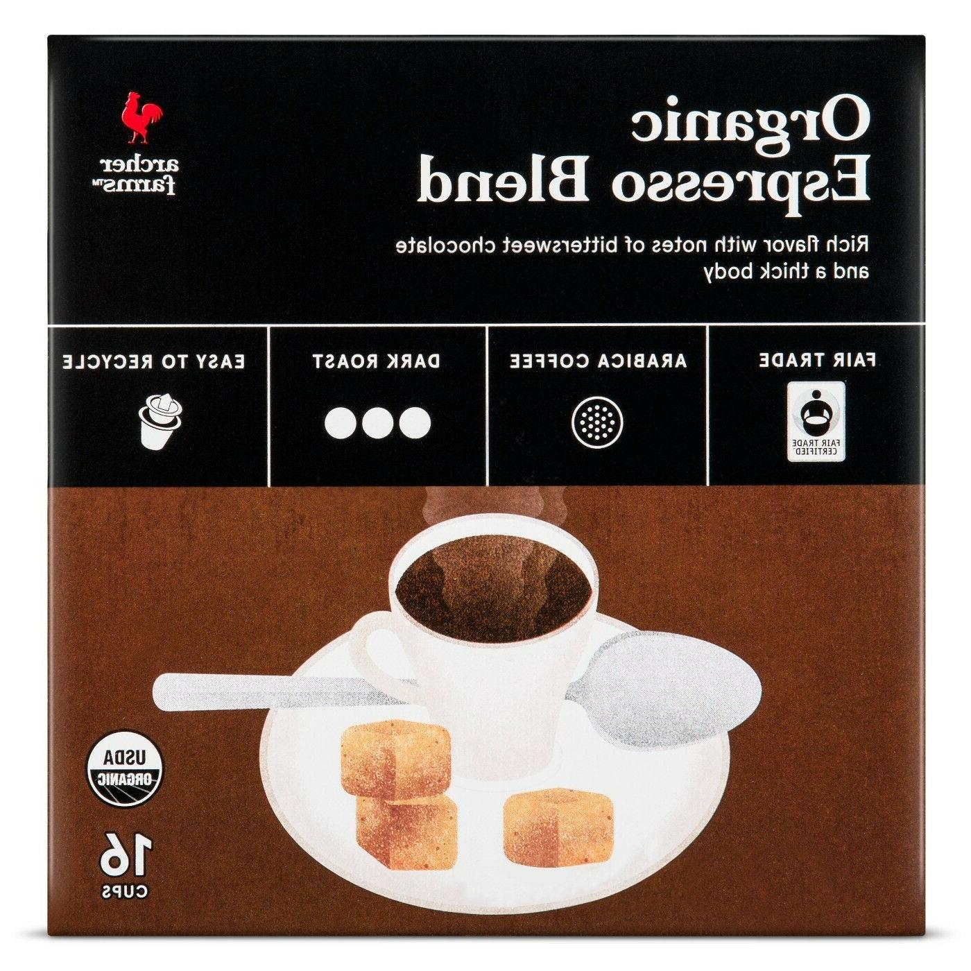 Archer Farms Organic Espresso Blend Coffee 16 to 64 Keurig K