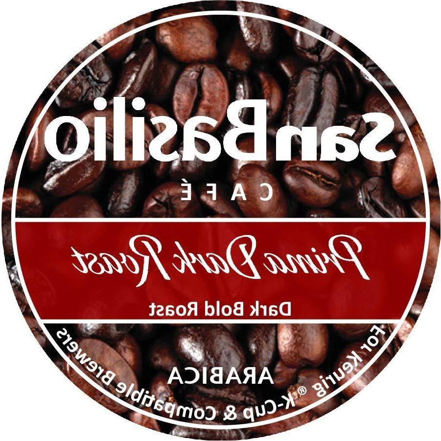 San Basilio Organic  K Cups Prima Dark Roast Coffee High Alt