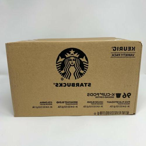 Starbucks Pike Place, House Blend, Breakfast Blend, Colombia