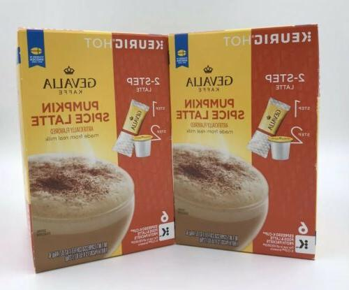 Gevalia Spice Caffe Latte K-Cup Pods Froth Packets 12 K-Cups*