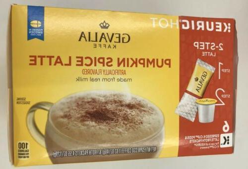Gevalia Pumpkin Spice Latte Froth Packets * K-Cups*