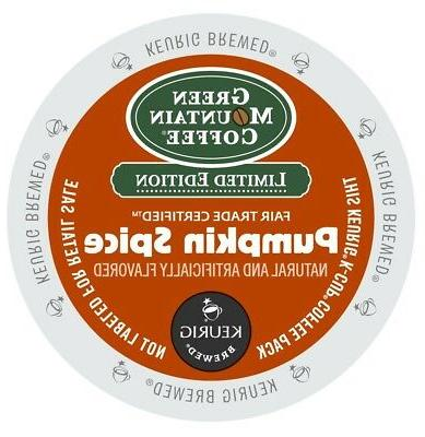 Green Mountain Pumpkin Spice K-cup Coffee, 100 count Kcups l
