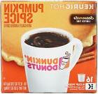 Dunkin Donuts Pumpkin Spice Flavor K-Cups for Keurig Coffee