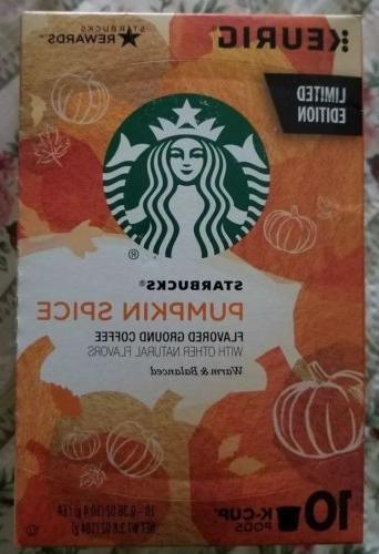 pumpkin spice keurig k cups 10 count
