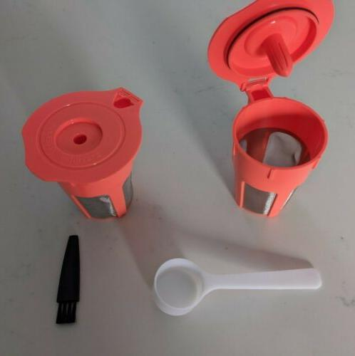 Refillable Reusable Carafe Filter K-Cups Pod, Fits Keurig 2.