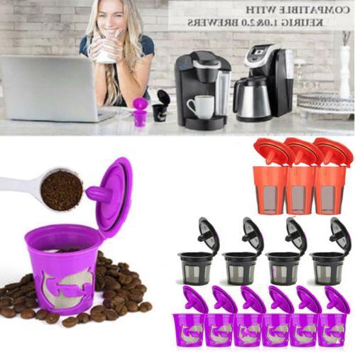 refillable reusable single k cups filter pod
