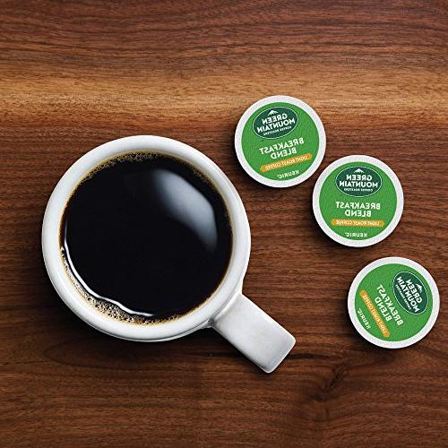 Green Mountain Coffee Roasters Breakfast Blend, Single Coffee K-Cup Pod, Light Roast, Count, Pack of