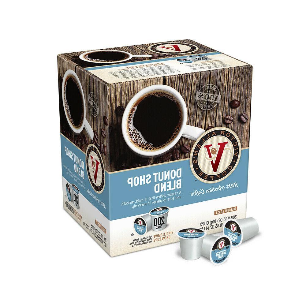 Victor Allen's Coffee K Cups, Donut Shop Single Serve Medium