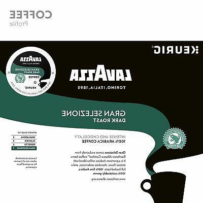 Lavazza Single K Cups Brewer, Dark Roast, Selezi...