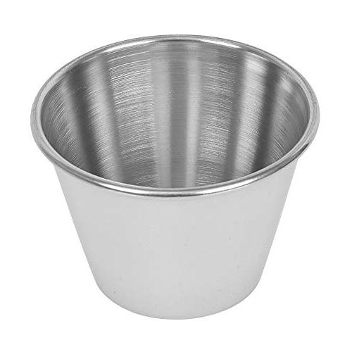 Steel Cups oz, Commercial Grade Dipping Sauce Individual Condiment / by