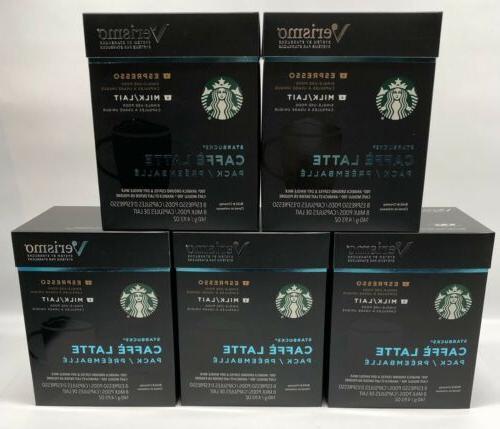 Starbucks Latte Espresso +Milk Pods Not Cups