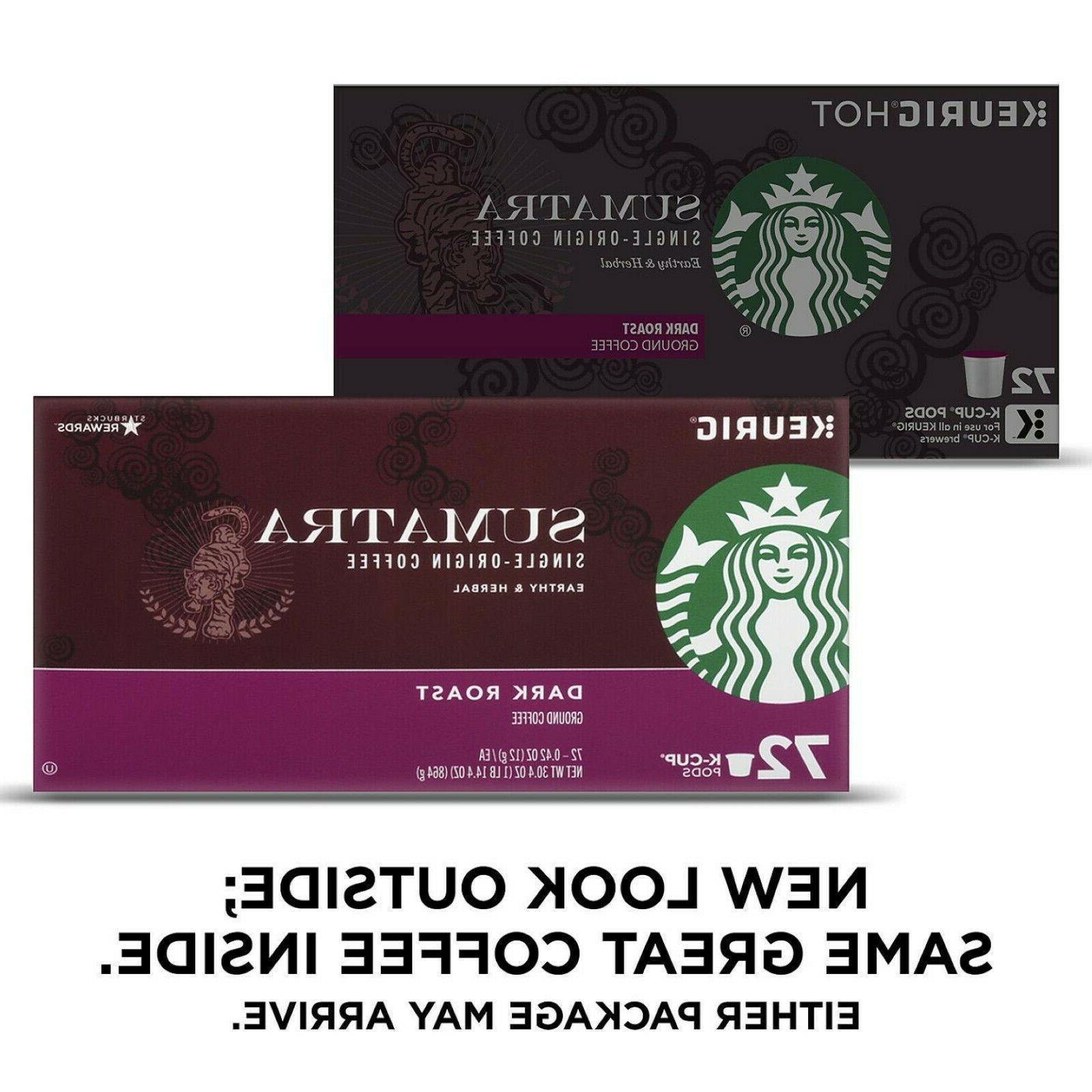 Starbucks Coffee 72 ct.Dark Roast Coffee SHIPPING