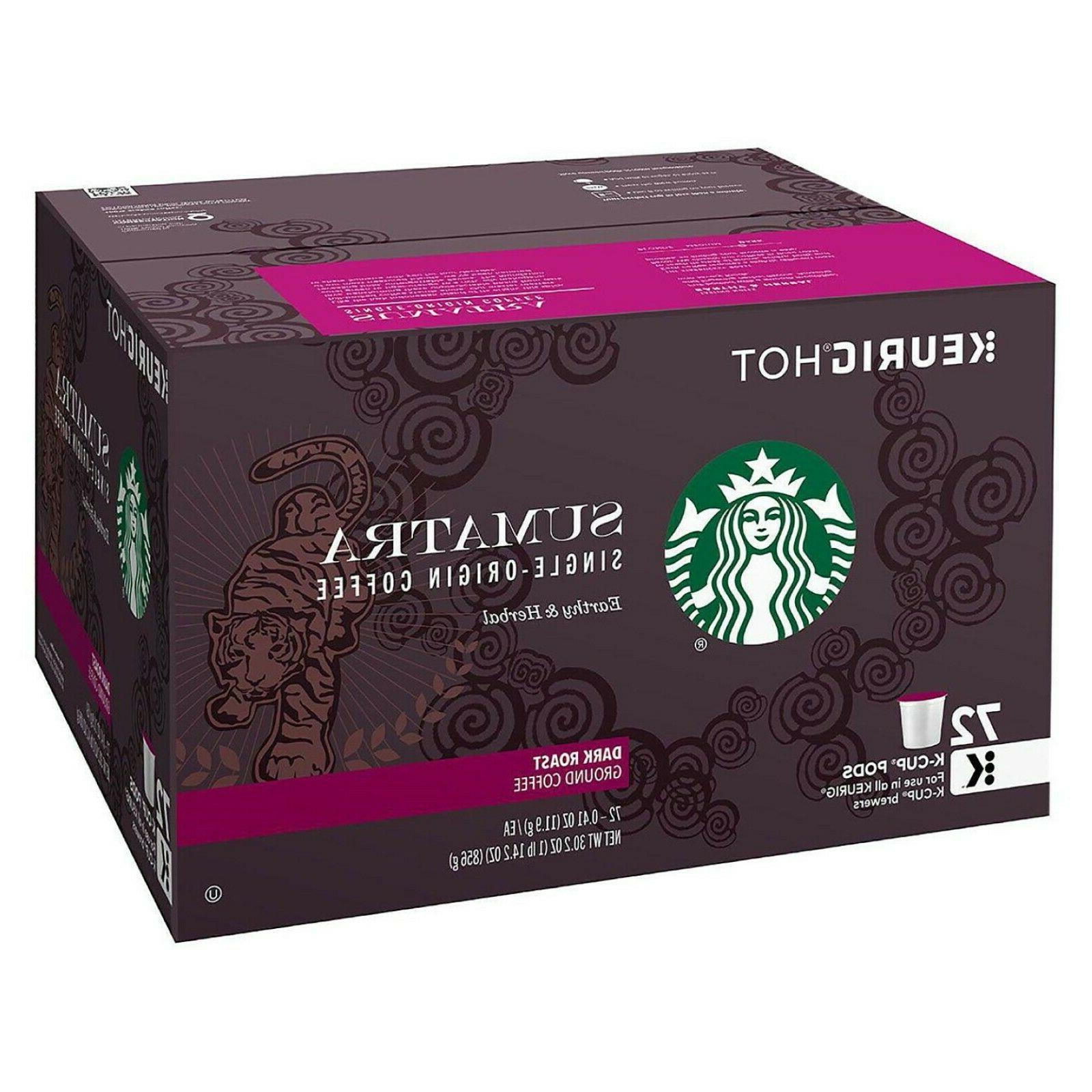 Starbucks Sumatra 72 ct.Dark Coffee FREE