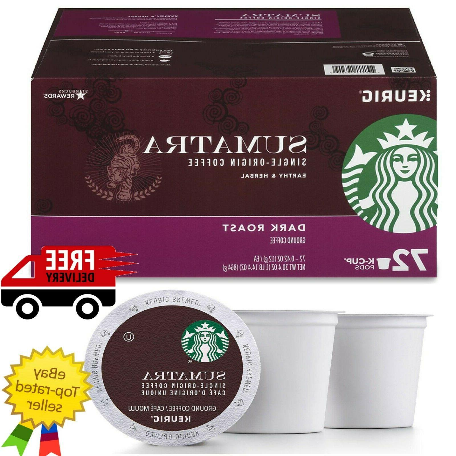 sumatra coffee k cups 72 ct dark