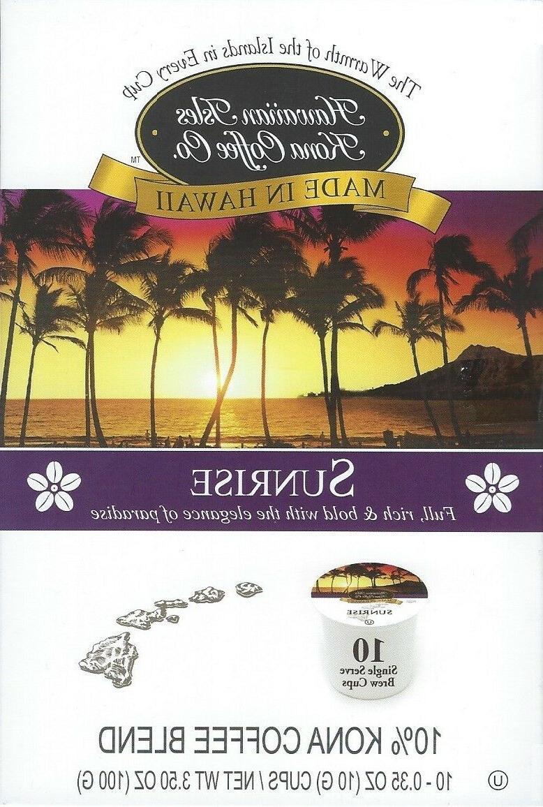 Hawaiian Isles Co SUNRISE Single Serve Brew Keurig*