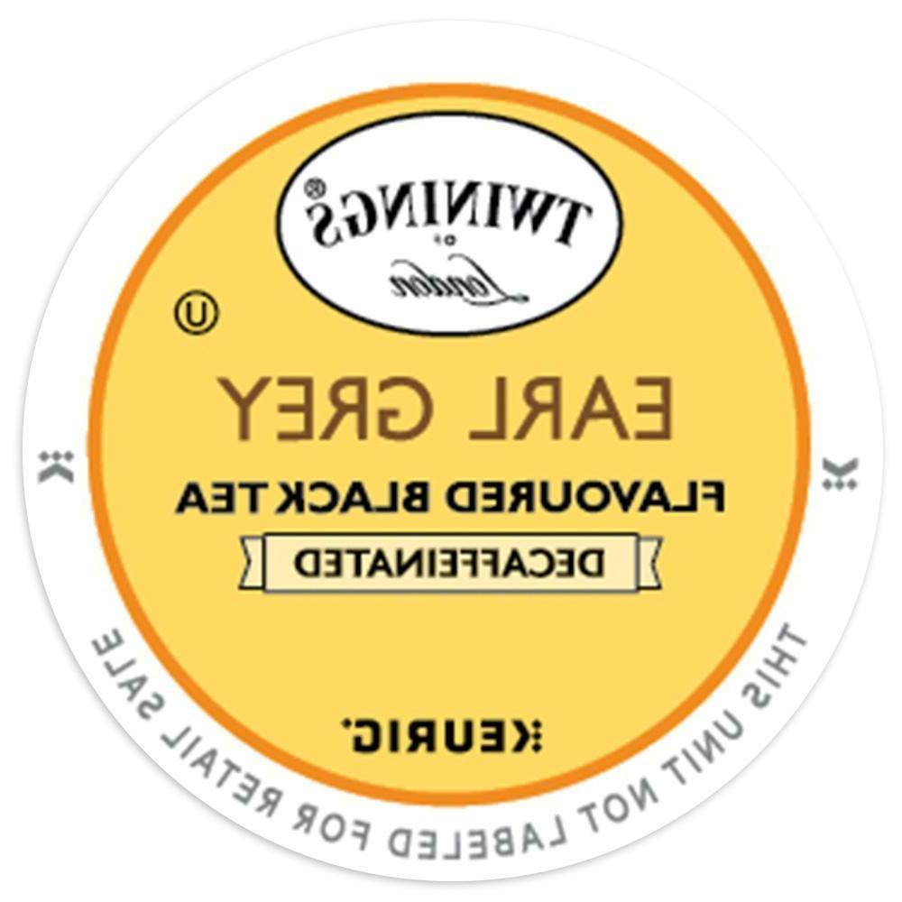 Twinings DECAF Earl Grey Tea 24 to 144 Count Keurig Kcup Pic
