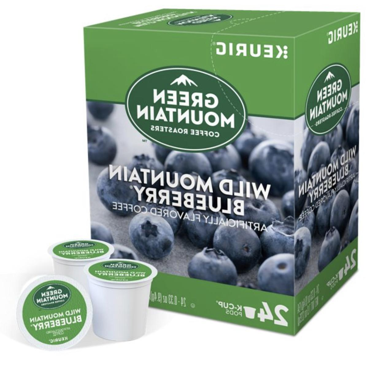 Green Wild Mountain Blueberry Keurig K-Cups Count FREE