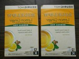 Bigelow Lemon Ginger Herbal Tea K-Cups 12 ct
