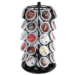 Lily's Home K Cup Holder Carousel for 35 K-Cups in Black. K