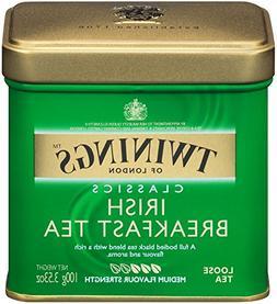 Twinings of London Irish Breakfast Loose Tea Tins, 3.53 Ounc