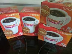Lot Of 4 DUNKIN' DONUTS  Original Blend K- CUPS! NEW! 48po