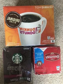 Lot Of 84 Keurig Coffee Pods K-Cups.Dunkin Donuts, Starbucks