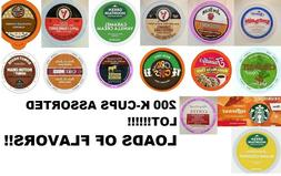 MIXED ASSORTED FLAVORS K CUP VARIETY PACK LOT of 200! K-Cups