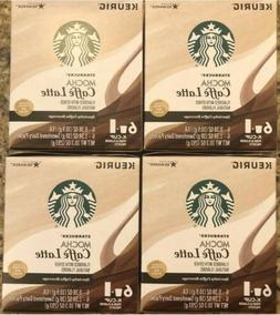 8 Boxes Starbucks Mocha Caffe Latte K Cups-48 Pods And 48 Da